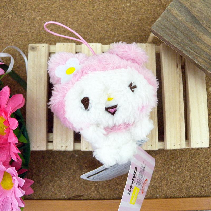 【真愛日本】15031800016 綿柔娃吊飾-LINE MM 三麗鷗家族 Melody 美樂蒂 娃娃 玩偶 飾品 正品 景品 限量