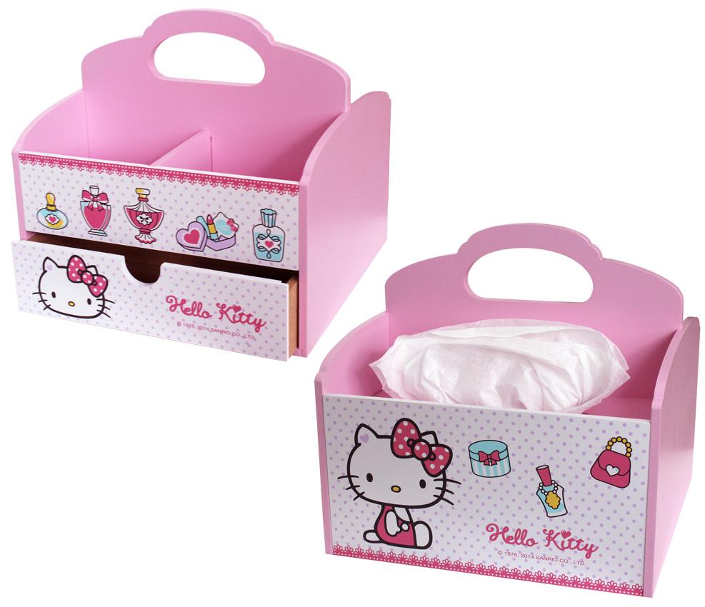 【真愛日本】15031900023 KT手提面紙收納盒-珠寶 三麗鷗 Hello Kitty 凱蒂貓 居家 化妝箱 正品