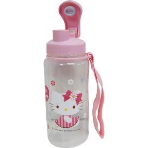 【真愛日本】15032000021 直飲休閒水壺550cc-小花粉 三麗鷗 Hello Kitty 凱蒂貓 水瓶 正品