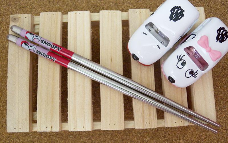 【真愛日本】15033000002 SN不鏽鋼筷子-愛心 史奴比 史努比 SNOOPY  餐具 正品 限量
