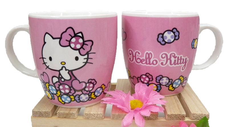 【真愛日本】15040300018 馬克杯-點點糖果 三麗鷗 Hello Kitty 凱蒂貓 杯子 水杯 茶杯 正品 限量