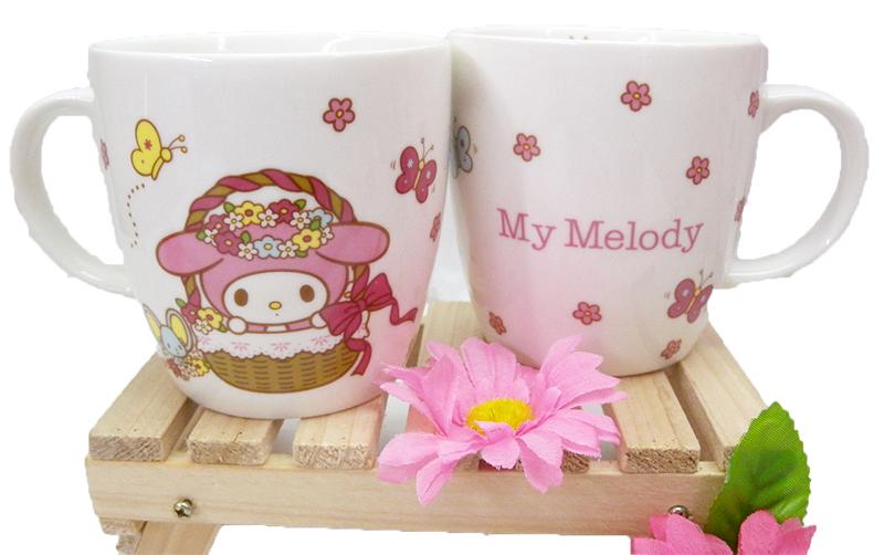 【真愛日本】15040300021 馬克杯-MM&蝴蝶 三麗鷗家族 Melody 美樂蒂 杯子 水杯 茶杯 正品 限量 正品