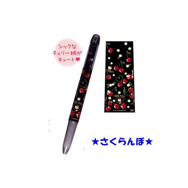 【真愛日本】15041800005 3C補充筆桿-KT櫻桃黑 三麗鷗 Hello Kitty 凱蒂貓 文具 正品 限量 預購'