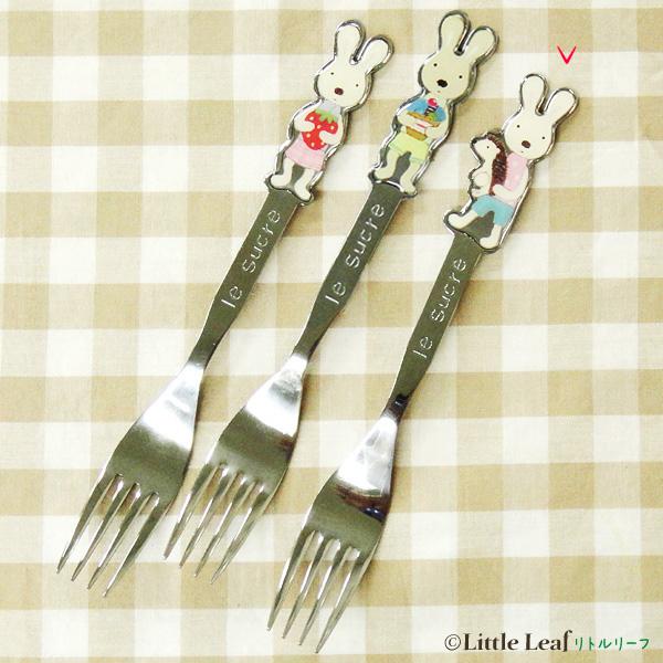 *le sucre la creme法國兔*15041800013 大叉子18cm-白兔刺蝟 戶崎尚美 餐具 正品 限量 預購