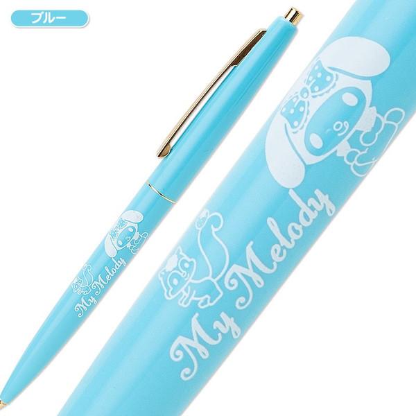 【真愛日本】15042100053 原子筆-夾扣金坐姿藍 三麗鷗家族 Melody 美樂蒂 文具 書寫用具 正品 限量 預購