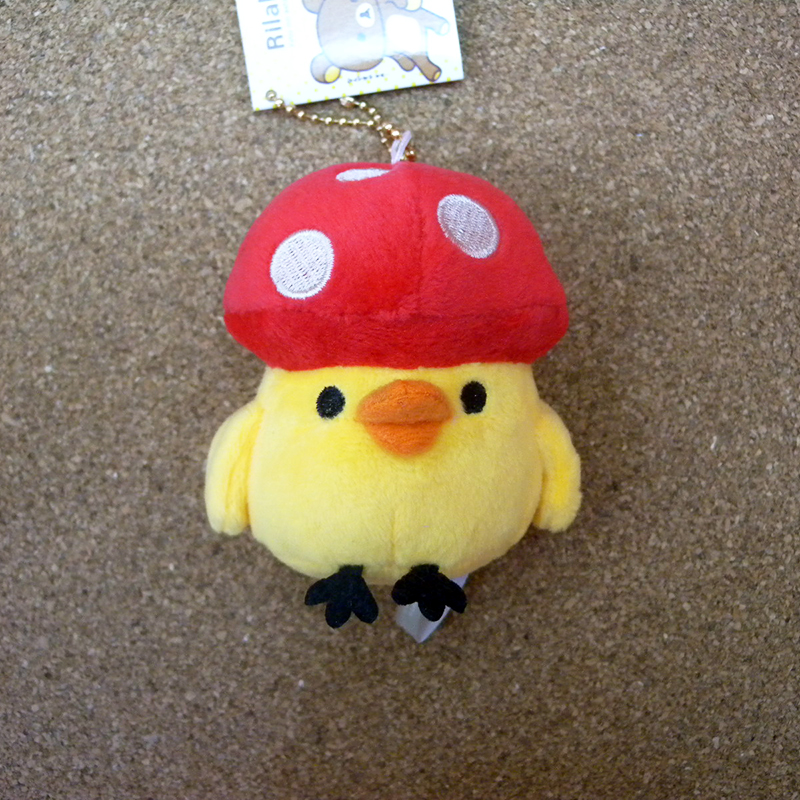 【真愛日本】15042700008 娃娃鎖圈-可愛香菇雞 SAN-X 懶熊 奶妹 奶熊 吊飾 飾品 鑰匙圈 正品 限量