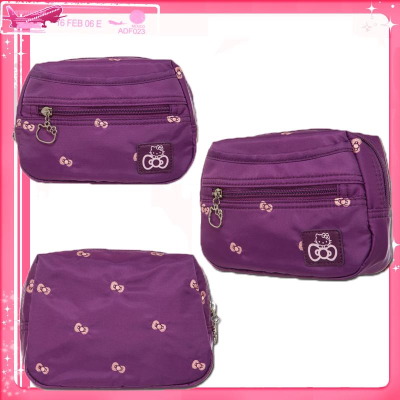 【真愛日本】15042800027 旅行化妝包-逸緻之旅紫 三麗鷗 Hello Kitty 凱蒂貓  收納包 萬用包 正品 限量 預購