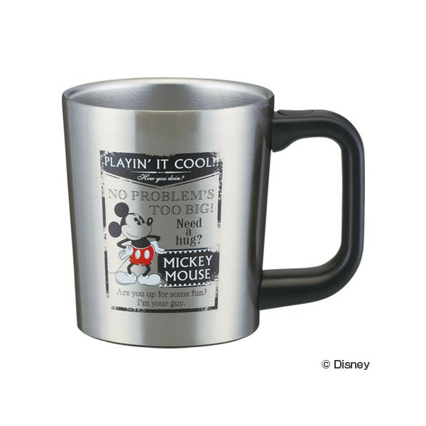 【真愛日本】15052600003 不鏽鋼保溫杯320ml-MK叉腰 迪士尼 米老鼠米奇 米妮 水杯 正品 限量 預購