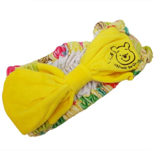 【真愛日本】15060400027  蝴蝶結美妝護髮帶-維尼 迪士尼 小熊維尼 POOH 維尼熊 美容 正品 限量 預購