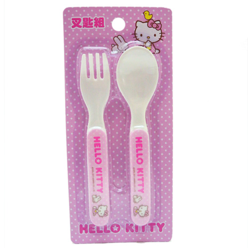 【真愛日本】12021500007 叉匙組-與動物 三麗鷗 Hello kitty 凱蒂貓 餐具 環保餐具 台灣授權製造