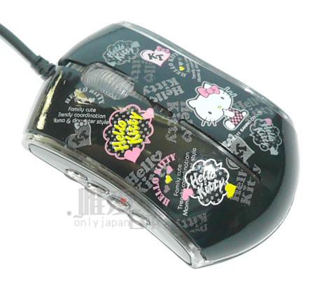 【真愛日本】12030700019 精典型光學滑鼠-彩炫黑 三麗鷗 Hello kitty 凱蒂貓 滑鼠 台灣授權