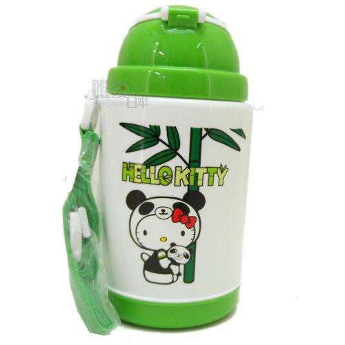 【唯愛日本】13061100021 400CC保冷彈跳水壺 三麗鷗 Hello Kitty 凱蒂貓 兒童水壺 吸管水壺