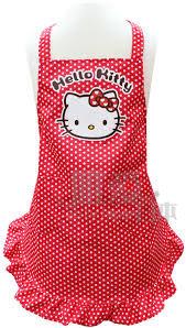 【真愛日本】13081400028 親子圍裙S-愛心紅結 三麗鷗 Hello Kitty 凱蒂貓 廚房用品 兒童圍裙