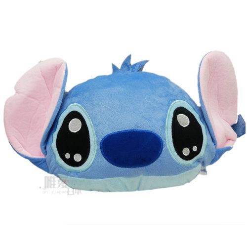 【真愛日本】13081400022  大頭型抱枕-水汪眼M 迪士尼 星際寶貝 史迪奇 靠枕 抱枕 午安枕