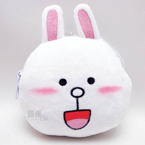 【唯愛日本】14030700070 票夾零錢包-兔兔 LINE公仔 饅頭人兔子熊大 收納包 置物包