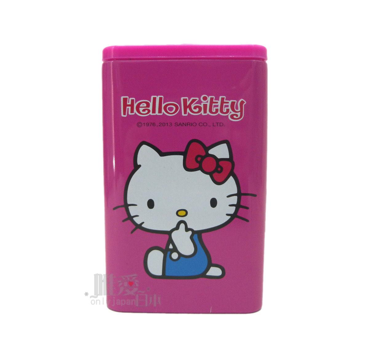 【唯愛日本】12060700002 方型分格筆筒-多結紅 三麗鷗 Hello Kitty 凱蒂貓 文具用品 筆筒