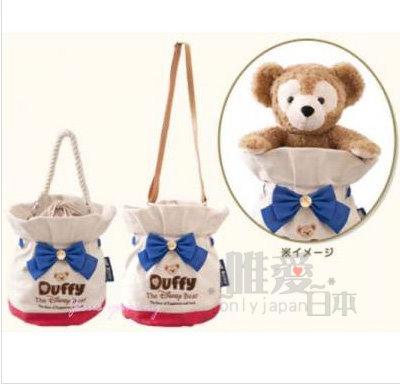 【真愛日本】 14032700024 經典限定水桶提袋-海軍達菲 Duffy 達菲熊&ShellieMay 手提包