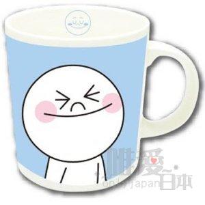 【唯愛日本】14032800034 馬克杯-饅頭人微笑藍 LINE公仔 饅頭人兔子熊大 咖啡杯 下午茶杯