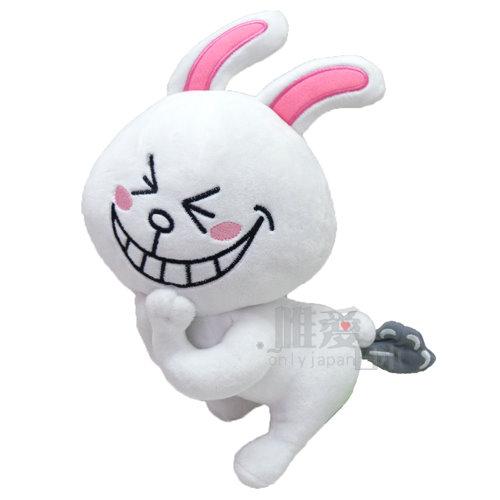 【唯愛日本】14052000004 LINE絨毛娃-可妮兔竊笑 LINE公仔 饅頭人兔子熊大 公仔 娃娃 抱枕 =