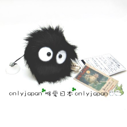 【真愛日本】14112300059 吸盤吊飾-小黑炭鬼 龍貓 TOTORO 豆豆龍 飾品 車上飾品 正品