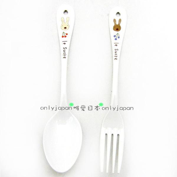 <唯愛日本>le sucre la creme法國兔戶崎尚美白鐵製琺瑯湯匙叉子大日本製
