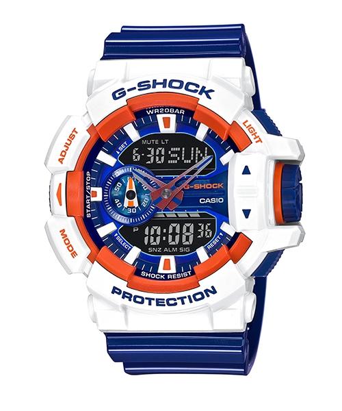 國外代購 CASIO G-SHOCK GA-400CS-7A 雙顯 運動防水手錶腕錶電子錶男女錶 紅藍白