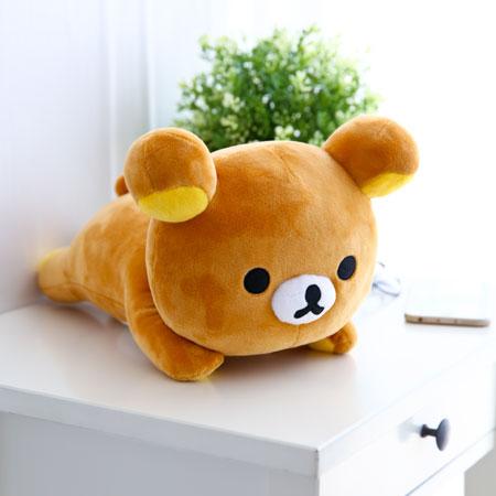 正版拉拉熊趴姿娃娃30cm 抱枕 娃娃 玩偶 擺飾 Rilakkuma 懶懶熊 三麗鷗【B061939】