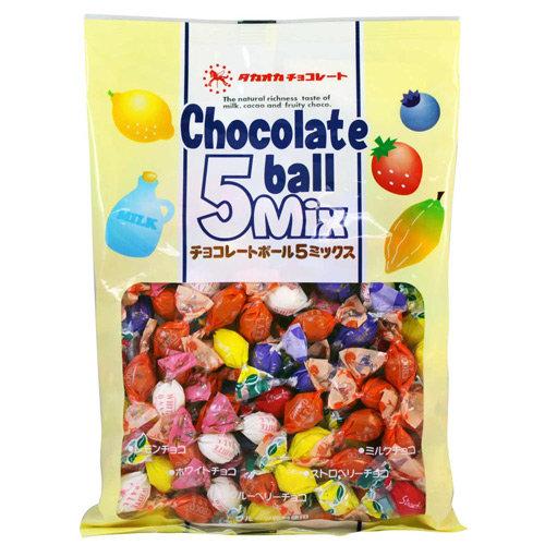 高岡5種類巧克力(155g) ~藍莓/牛奶/草莓/檸檬/白巧克力