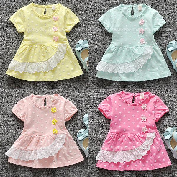 短袖洋裝 蝴蝶結蕾絲連身裙 洋裝 UG31201
