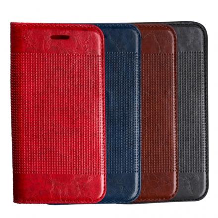 三星 Samsung Galaxy S7 edge 輕薄皮革壓紋真皮質感皮套 側掀磁吸皮夾支架式皮套