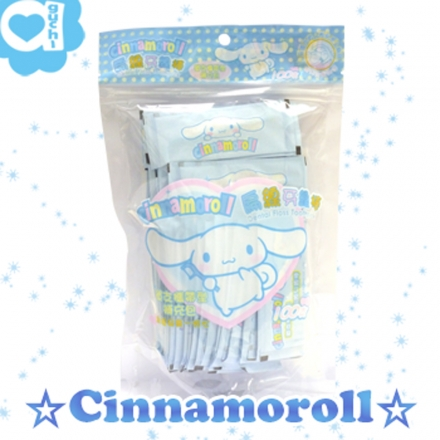 ☆ Cinnamoroll ☆ 大耳狗 單支包攜帶型扁線牙線棒 (100入補充包)