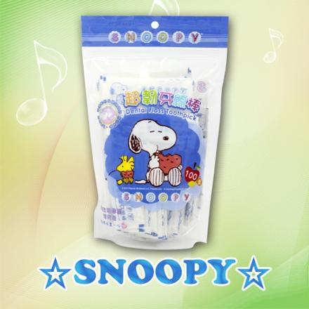 SNOOPY 史努比 單支包攜帶型超韌牙線棒(100入補充包)
