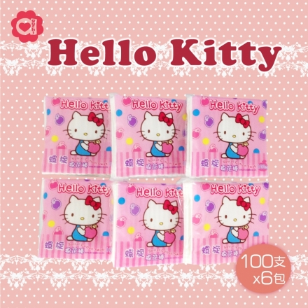 ☆ Hello Kitty ☆ 凱蒂貓 螺旋棉花棒 (100支x6包)
