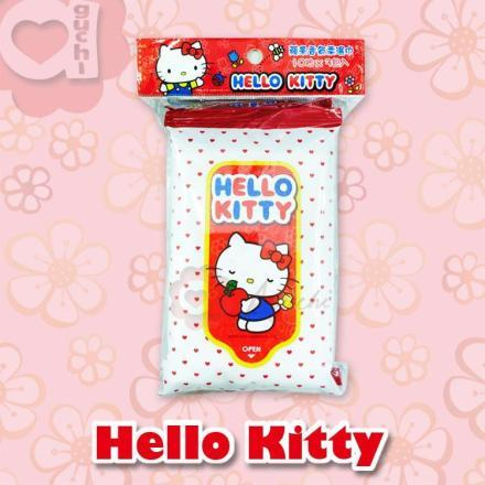 ☆Hello Kitty☆凱蒂貓 蘋果香氛柔濕巾(10抽X3包)每包12元【亞古奇 Aguchi】