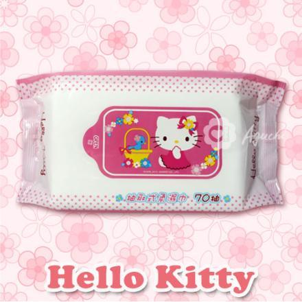 ☆Hello Kitty☆凱蒂貓 抽取式柔濕巾/濕紙巾 70抽【亞古奇 Aguchi】