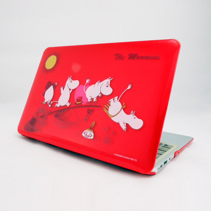 "Moomin嚕嚕米正版授權 - Macboo水晶殼:【 The Moomin(紅) 】《 Macbook Air / Pro / Retina   11.6"" / 12"" / 13.3"" / 15.4""》"