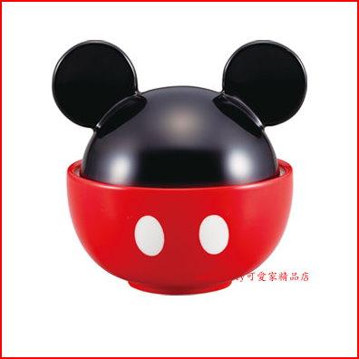 asdfkitty可愛家☆迪士尼米奇有蓋陶瓷碗/飯碗/點心碗/湯碗-可微波-日本正版商品