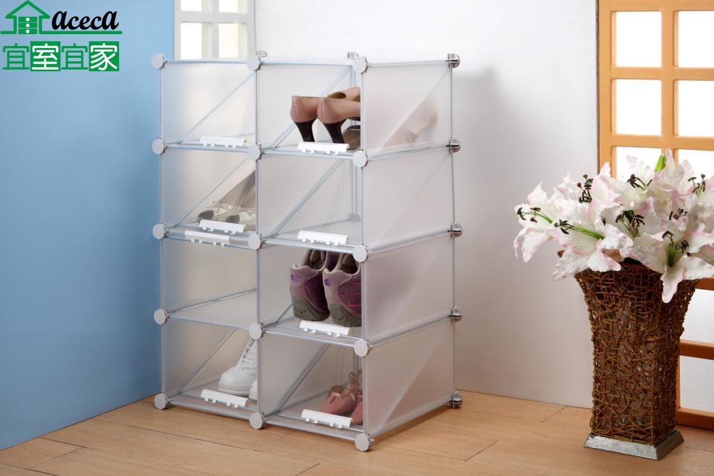 8格雙層鞋架16雙 8格鞋櫃 置物櫃 收納櫃 活動櫃 DIY MIT 台灣製【宜室宜家F062-2*4】