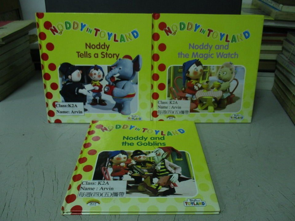 【書寶二手書T7/少年童書_LQO】Noddy tells a story_Noddy and the等_共3本合售