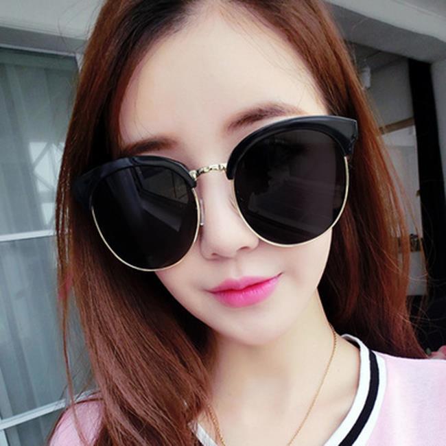 50%OFF【J021175GLS】2017新款復古大框太陽鏡 韓版時尚太陽眼鏡炫彩反光墨鏡眼鏡