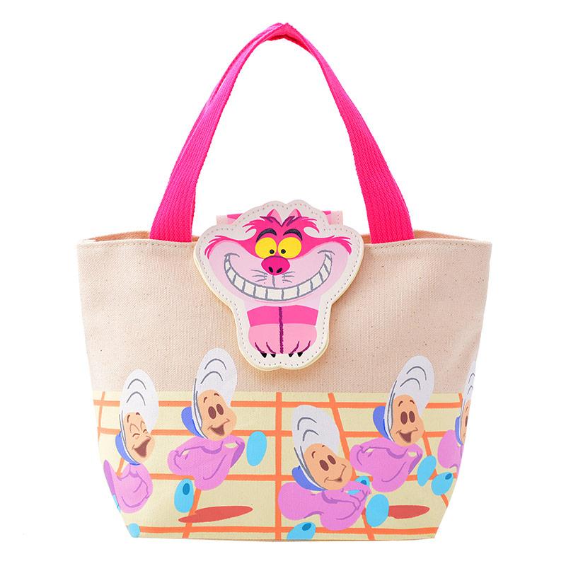 【真愛日本】15102700006 限定DN手提包-妙妙貓牡蠣 愛麗絲夢遊仙境 包包 手提袋 帆布 迪士尼帶回