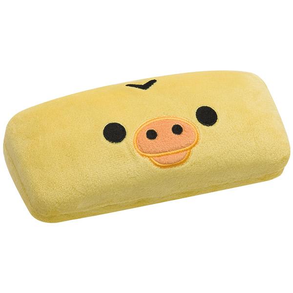 【真愛日本】16093000018   絨毛硬式眼鏡盒-大臉小雞  SAN-X 懶熊  奶熊 拉拉熊   收納盒 眼鏡盒 置物盒