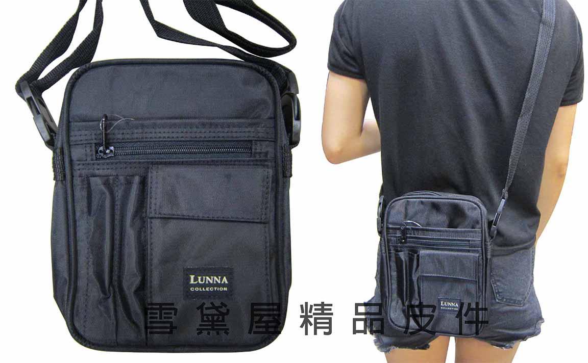 ~雪黛屋~LUNNA二用型 肩背 腰包 YKK拉鍊零件堅持台灣最優質的品質 防水尼龍布材質 Y7529(小)