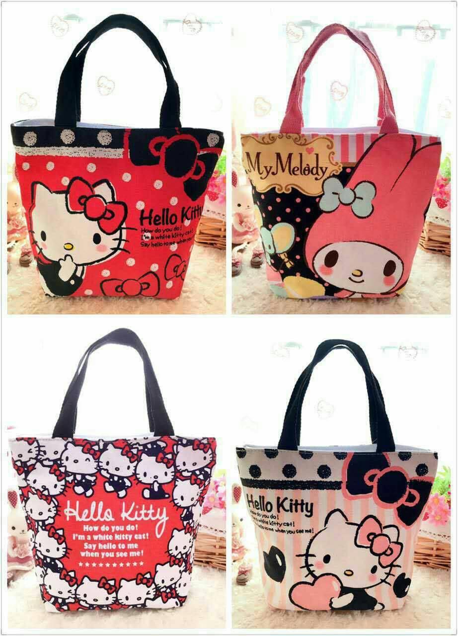 手提包 Hello Kitty可愛帆布手提袋 便當袋 購物袋 帆布包【包包阿者西】
