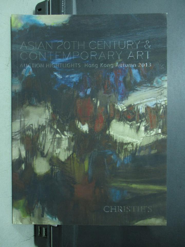 【書寶二手書T9/收藏_PNZ】Christie's_2013/10/3_Asian 20th Century…Art