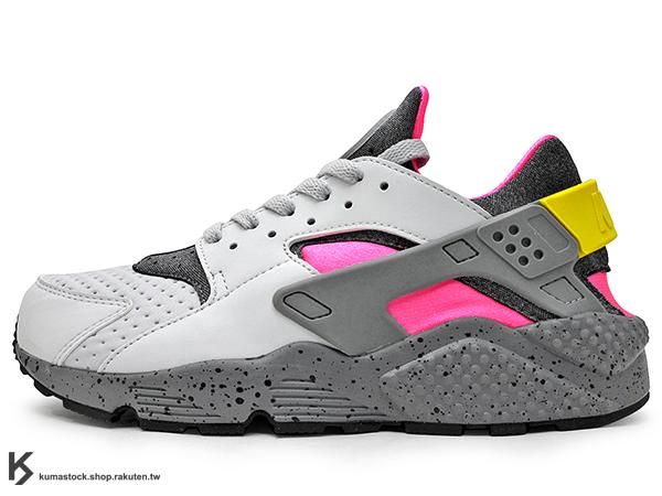 2016 最新 1992 經典鞋款 重新復刻 NIKE AIR HUARACHE RUN SE 灰桃紅 ACG OUTDOOR 風 透氣網洞 武士鞋 輕量 慢跑鞋 (852628-002) 1016
