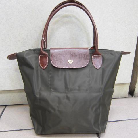 ~雪黛屋~Lian 真皮帆布包 手提包 防水尼龍布材質+100%真皮 可手提可肩背萬用功能袋#00502