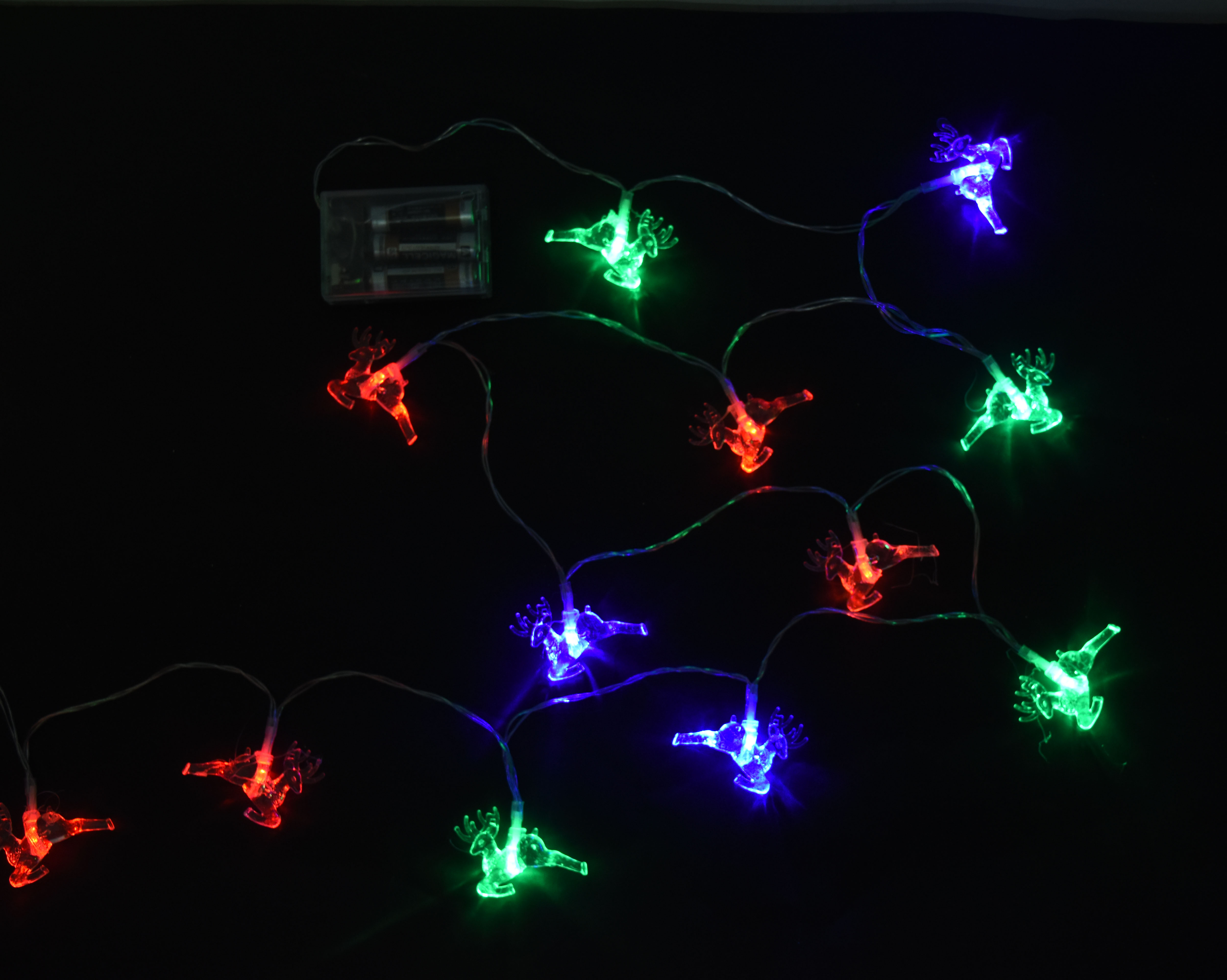 X射線【X411571】20燈LED奔鹿電池燈(彩光),聖誕樹/LED/聖誕燈飾/造型燈/聖誕佈置/裝飾燈/聖誕樹