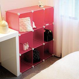 Loxin【BG0554】ikloo~9格DIY百變收納櫃 創意組合收納櫃 鞋櫃 衣櫥 衣櫃 收納箱置物櫃