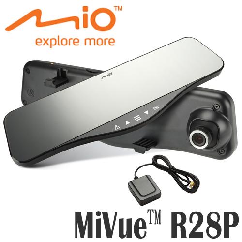 MIO GPS後視鏡行車記錄器 MiVue™ R28P ◆內含16G記憶卡◆超清晰夜拍、固定式測速照相提醒、胎壓偵測,多功能完美整合